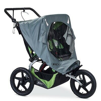 BOB Weather Shield for Duallie Fixed Wheel Jogging Strollers, Grey