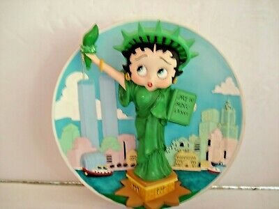 MINT CONDITION BETTY BOOP LIBERTY LADY  - Collectors Plate  B5689