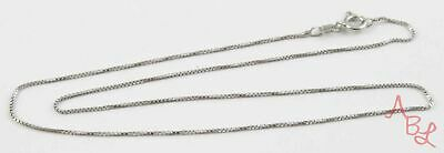 """Sterling Silver Vintage 925 Box Chain Link Necklace 16"""" (1.9g) - 813434"""