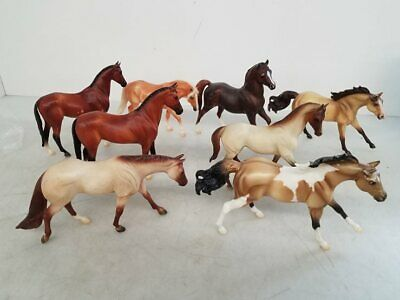 Breyer Horses Lot Of 8 Classic Series 1:12 Scale American Quarter Kelso