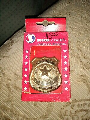 Susco/Cadet Military Insignia Security Enforcement Officer Badge New