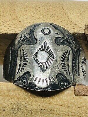 Vintage Fred Harvey Era Thunderbird Ring Size 9 Sterling silver Perfect