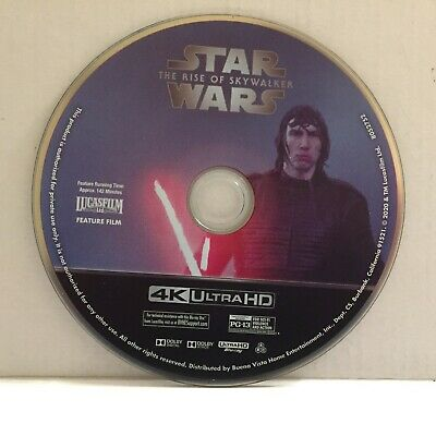 Star Wars The Rise of Skywalker Movie 4K UHD Disc Only (No Blu-Ray No Digital)