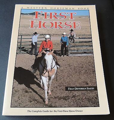 HORSE owner book equestrian WESTERN HORSEMAN book  FIRST HORSE  guide equine