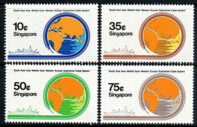 Singapore 1986 Submarine Cable set of 4 Mint Unhinged