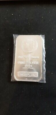 """1 oz .999 Fine Silver Bar/Round """"Picture of a Silver Dollar"""""""