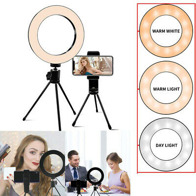 LED Selfie Ring Light Lamp with Tripod Stand for Studio Live Stream/Makeup Vlog