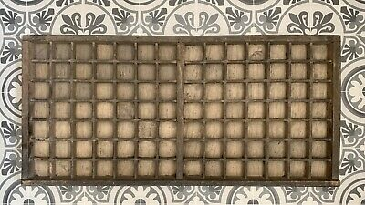 Vintage French Letterpress Printers Tray Solid Construction For Curios