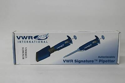 VWR Pipettor Signature Variable Volume Autoclavable Pipette 20 - 200mcl NEW