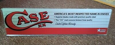 RARE Vintage CASE XX KNIVES Reverse Painted DISPLAY SIGN....VERY NICE!