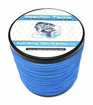 Reaction Tackle High Performance Braided Fishing Line 65LB (150 yards) Dark Blue