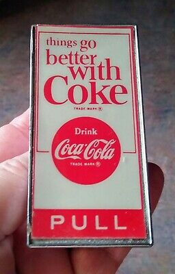 """RARE 1960s COCA-COLA """"Things Go Better With Coke"""" DOOR PULL PUSH....COOL!"""