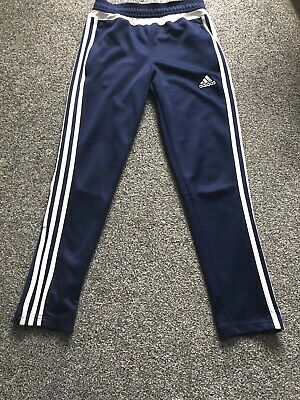 Boys Blue Adidas Climacool Joggers Tracksuit Bottoms Age 11 - 12 Years