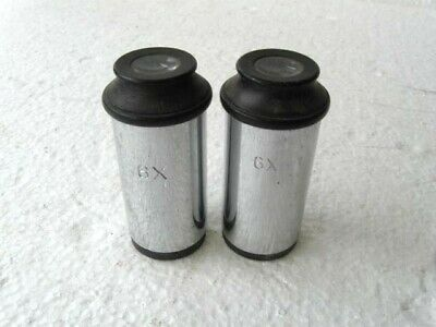 Lot of 2 Matching 6x Microscope Eyepiece Lens