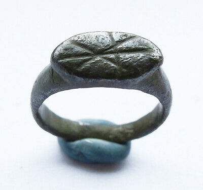 Genuine ancient Roman bronze votive ring -  wearable -