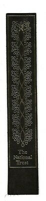 The National Trust. Black Leather English Bookmark.