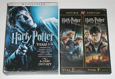 Kid DVD Lot - Harry Potter Collection Years 1-6 Deathly Hallows Part 1 & 2 USED