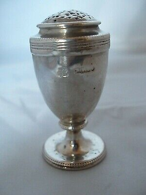 Crested Pepper Shaker Victorian Sterling Silver London 1860