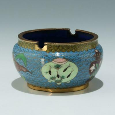 Cloisonné Pinselwascher / Brushwasher - China 20. Jh.         #as254