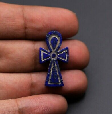 Rare Egypt Egyptian Ankh Antiques The Key Of Life Lapis Lazuli Amulet Statue Bc
