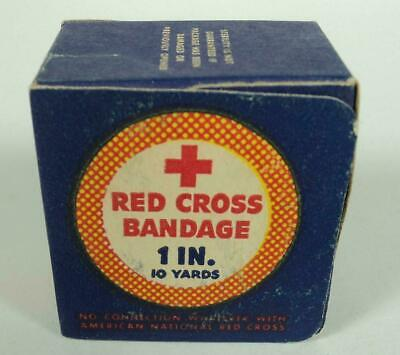 Vintage 40's WWII Era Red Cross Johnson & Johnson 1 inch Bandages 10 Yds - New