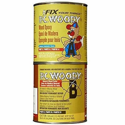 PC Products PC-Woody Wood Repair Epoxy Paste, Two-Part 96oz (96 oz in Two Cans)