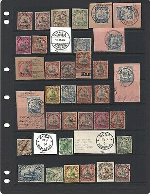 German Colony Kamerun Cameroun Large Stamp Collection Many Types Stamps Cancels