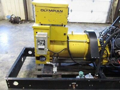 80 Kw Olympian Natural Gas Generator Used Low Hour Load Bank Tested