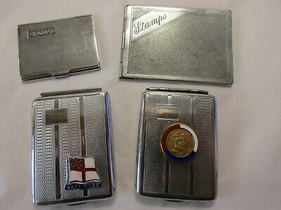 small vintage  job lot of stamp cases and matchbook cases