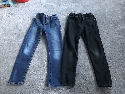 Boys Age 8 Years Jeans Bundle Black River Island And Blue Next Skinny