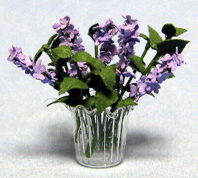"1/2"" Scale Lilacs  in vase kit laser cut & designed by sdk miniatures LLC"