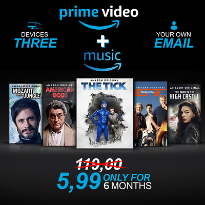 amazon prime 6 month+ prime music+ twitch 🔥 your owen email 🔥