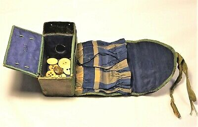Rare Civil War Soldier's Housewife / Personal Camp Sewing Kit -Great for Display