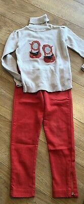 Mayoral Jumper And Jeans Set Orange Ballet 6 7 8 9