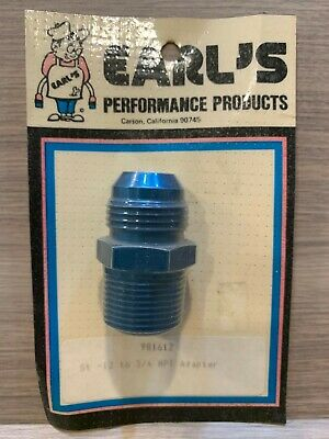 """Earl's -12 to 3/4"""" NPT Adapter Fitting Anodized Aluminum 981612"""