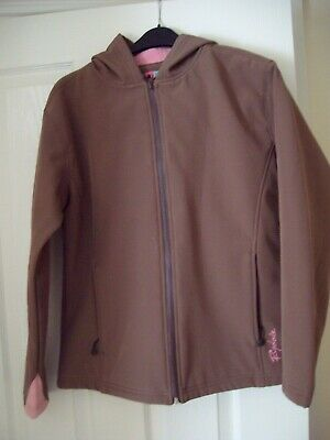 Girl's Rydale Hooded Jacket - Size M - Brown With Pink Lining - Nice Jacket