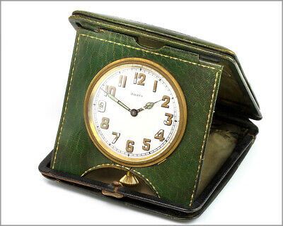 Rare Antique Swiss Travel Clock 8 Days - LEMANIA Watch CO, 6 Jewels - For Repair