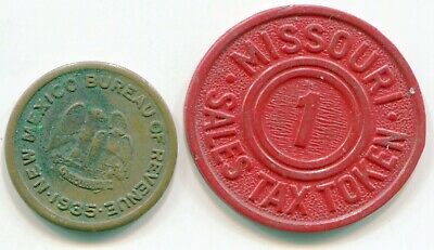 Tax Tokens lot of 2 New Mexico and Missouri    lotmay6336