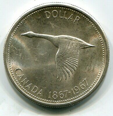 Canada silver dollar 1967 goose comm issue    lotap6013