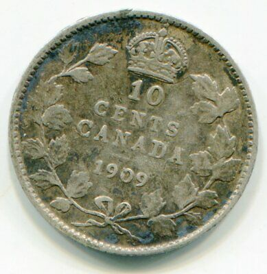 Canada 10 Cents 1909 Victorian leaves   lotmay6147