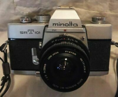 *Vintage Minolta SR-T101  35 mm Camera with Case