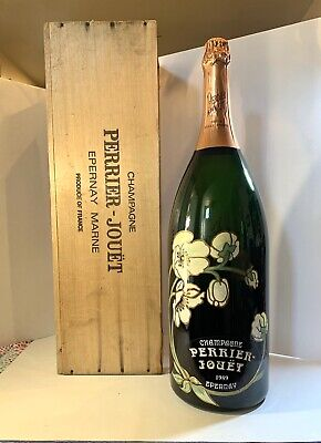 Perrier Jouet Champagne Display Dummy Bottle 9L Salmanazar W/ Crate