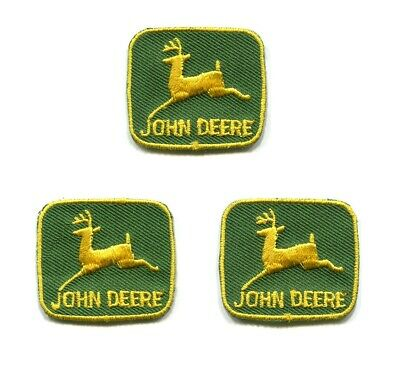 3 Vintage Small John Deere Tractor Patches Make Your Own Custom Shirt Hat Logo