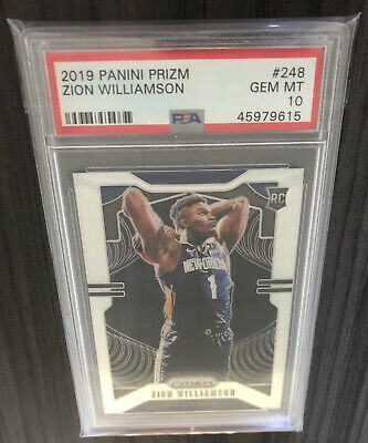 Zion Williamson Prizm Rookie PSA 10 🔥 Plus Packs of Prizm and Optic Fast Break!