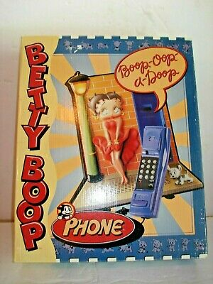 Rare Betty Boop Light Up Lamp Post Touch Tone Phone In Original Box