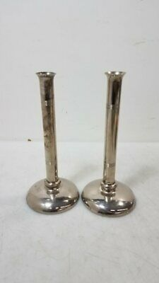 Antique Lerner Ware Silverplate Art Deco Candle Candlestick Holders