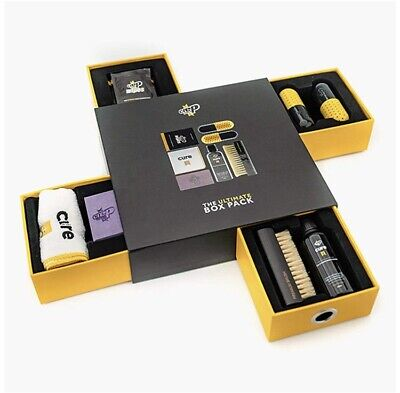 Ultimate Shoe Care Box Pack - Comes with Solution, Brush, Towel, Eraser, Wipes