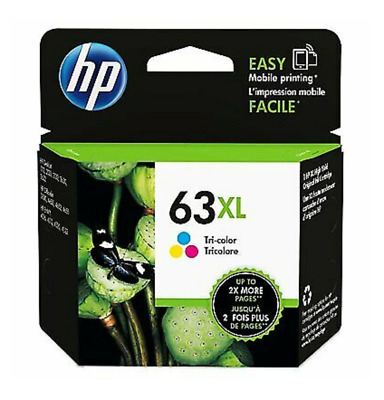 HP 63XL Ink Cartridge Color High Yield NEW Genuine