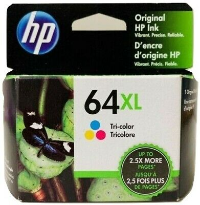 HP 64XL Ink Cartridge Color High Yield NEW Genuine