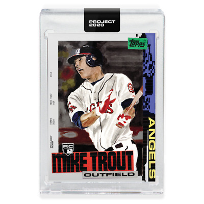 Topps PROJECT 2020 Card 85 - 2011 Mike Trout by Jacob Rochester ANGELS PRESALE